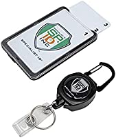 Super Heavy Duty Sidekick Retractable Badge and Key Reel - Carabiner Clip - with Three Card ID Badge Holder (Holds 3 I'd...