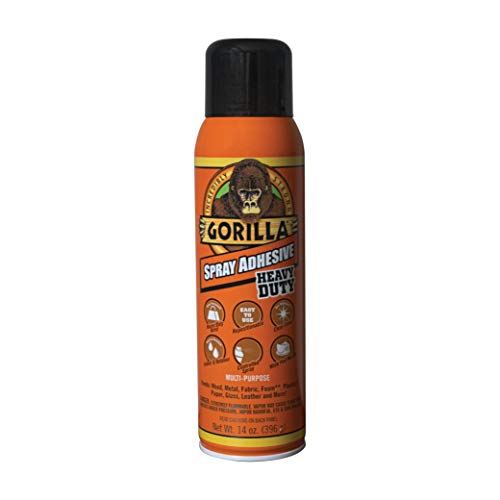 Gorilla Heavy Duty Spray Adhesive, Multipurpose and Repositionable, 14 ounce, Clear, (Pack of 1)