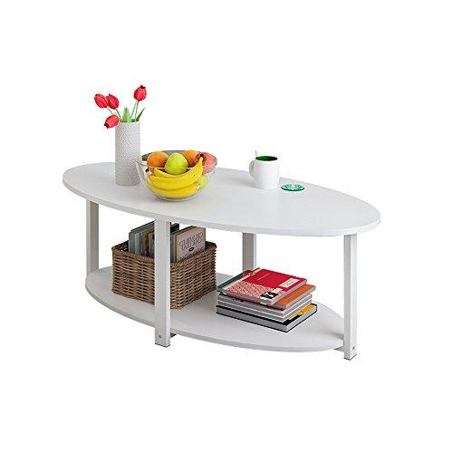Table HAIZHEN - Poste de Travail pour Ordinateur - Simple Salon - Petit café Rond - Assemblage Simple - Canapé latéral - Thé Bas, 120 * 60 * 42CM