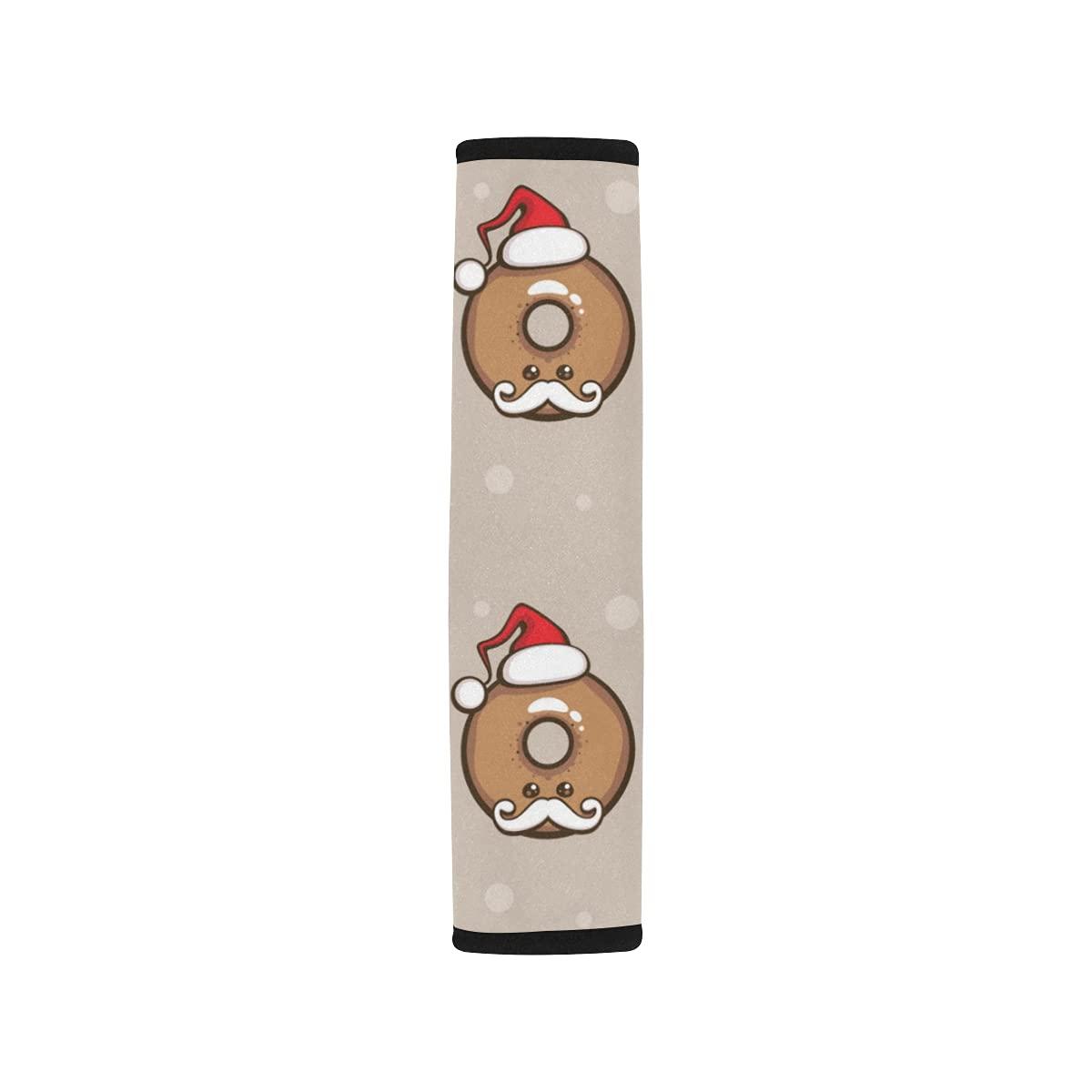 2pcs Max 49% OFF Car Seat Belt Cover Cute OFFicial mail order Chocolate Shoulder Hat Donut Santa