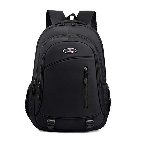 REBKW 2021 Male Backpack Large Business Men Backpack Oxford Laptop Backpack Waterproof School Shoulder Bags Male Backpack(Black)