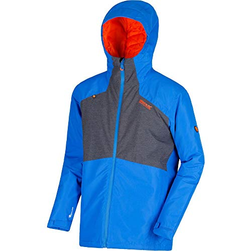 Regatta Garforth II Waterproof and Breathable Thermoguard Insulated Hooded Veste Homme, Oxford Blue/Seal Grey, 2 XL