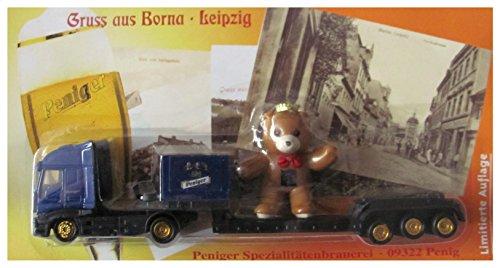 Peniger Nr.50 - Gruss aus Borna - Iveco - Sattelzug mit Bär