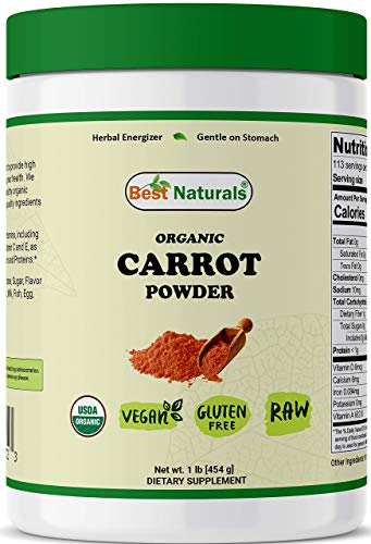 Best Naturals Organic Carrot Powder 1 Pound (454 Grams)