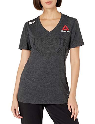 Reebok UFC Camiseta para Mujer, Talla M, Color Negro y Negro