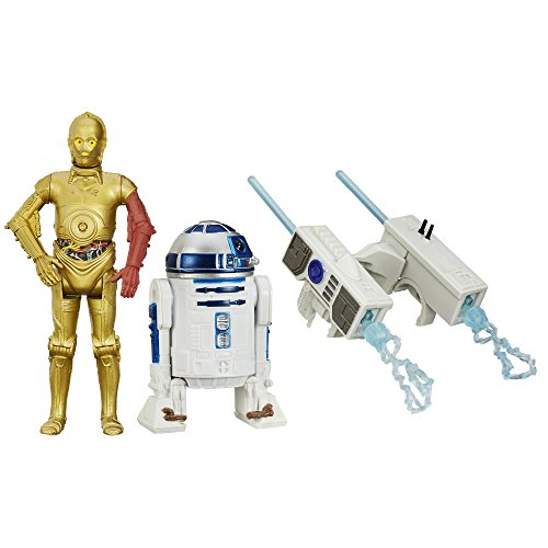 Hasbro Star Wars The Force Awakens C-3PO und R2-D2 Droid with Firing Missiles im Set