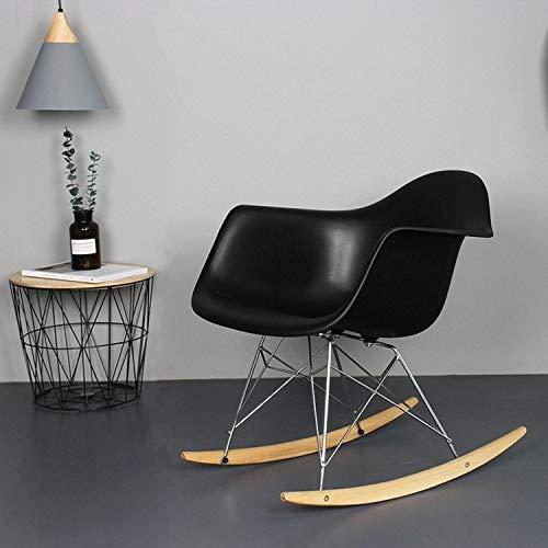 XGQ 309 Nordic Fashion Simple Casual apoyabrazos del Dormitorio Mecedora (Negro) (Color...