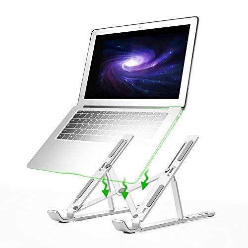 Preisvergleich Produktbild MIGHTYDUTY Laptop-Ständer Aluminium Ergonomischer Sitz zum Legieren Computer-Ständer für MacBook Computer Heben und Aufbewahren Dreieckige Halterung Antiskid Silica Gel