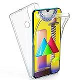 AROYI Samsung Galaxy M31 Hülle 360 Grad Handyhülle, Silikon Crystal Full Schutz Cover [2in1 Separat Hart PC Zurück + Weich TPU Vorderseite] Vorne und Hinten Schutzhülle für Samsung Galaxy M31