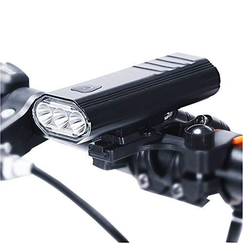 QUYUAN Fahrradlicht Fahrradbeleuchtung Set USB Aufladung 1000 Lumen 5200mah Superhelle Fahrradlampe IPX6 Wasserdicht 5 Arten Von Beleuchtungsmodi