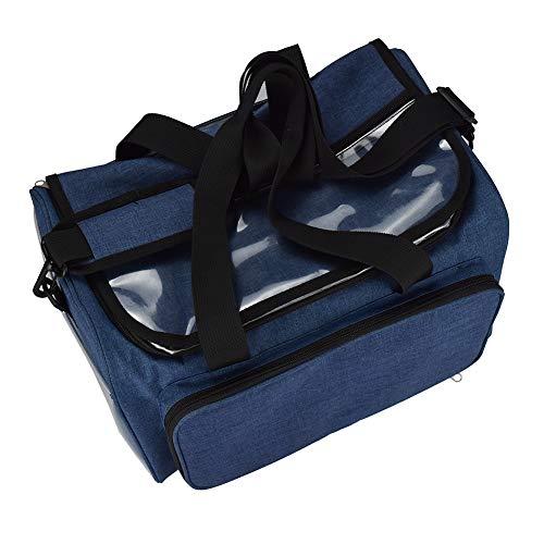 Aufbewahrungstasche für Strickgarn, robust, leicht, Premium-Garn, Häkelbedarf, Organizer für Zuhause. Nähgarn Organizer Garn Tasche Strick Aufbewahrungskorb blau