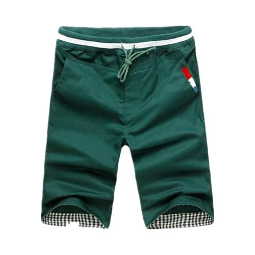 Hombres Casual Pantalones Cortos Pantalones Nuevos Hombres De Verano Elástico Cintura Pantalones Cortos De Longitud De La