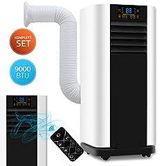 Home Deluxe - Climatisation Mobile SET Mokli XL - Climatiseur mobile avec système 4in1: refroidir, chauffer, déshumidifier, aérer - 9000 BTU/h (2600 watts) - Climat avec matériel de montage, télécommande et minuterie