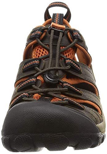 KEEN Men's Arroyo II Hiking Sandal,Black Olive/Bombay Brown,10 M US