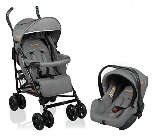 Baninni Kinderwagen Messina 2 in 1 - Night Edition Grijs