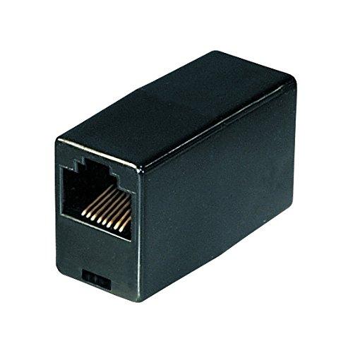 Netzwerk Kupplung | RJ45 | CAT5 | UTP | Ethernet LAN Kabel Verbinder | Verlängerung Adapter | 2X RJ45 Buchse | für Patchkabel Netzwerkkabel Ethernetkabel Lankabel | Schwarz | 1 Stück
