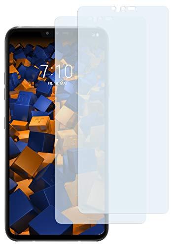 mumbi Schutzfolie kompatibel mit LG V40 ThinQ Folie klar, Bildschirmschutzfolie (2X)