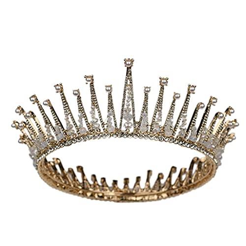 Elegante corona de pelo de cristal -DIEADOR DE RHINESTONES for LA PRINCESA DE NOMBRES EN LA FIESTA DE BODA Y CUMPLEAÑOS velo de novia TSYGHP