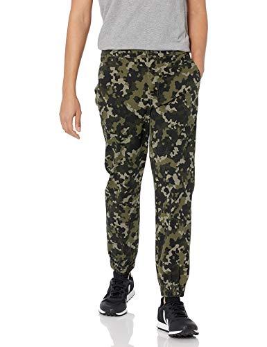 Amazon Essentials Slim-Fit Jogger Pant Pantaloni Vestito, Olive Geo Camo, M