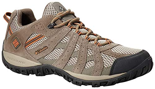 Columbia Men's Redmond Trail Shoe, Pebble/Dark Ginger, 14 M US