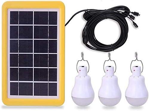 KK.BOL Lámpara solar portátil led de la bombilla del panel solar recargable led de la lámpara del sensor de luz 3GS-1200