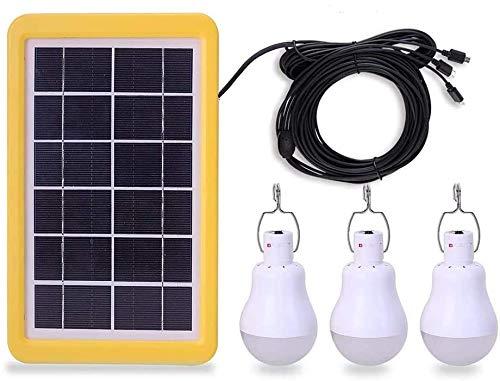 KK.BOL Solar Light Bulb Portable Rechargeable Solar Led Light Lamp for Shed Barn Camping Patio Garden Emergency Light (3GS1200 with Light Sensor)