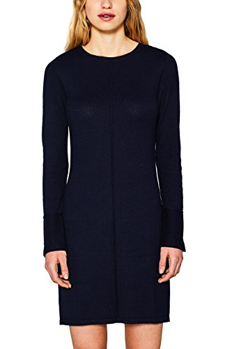 edc by ESPRIT Damen 127CC1E014 Kleid, Blau (Navy 400), X-Small