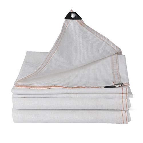 GFBHD Toldos Malla Resistente a los Rayos UV Red de sombreado Blanco Protector Solar Red de sombreado Aislamiento de Patio de balcón suculento Engrosado Blanco Puro (Color : White, Size : 3x5m)