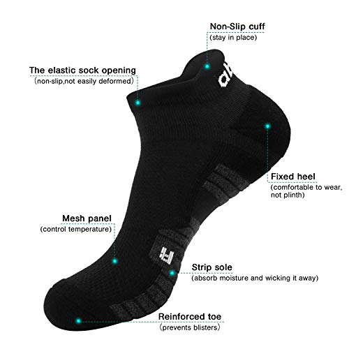 Abida Lot de 6 paires de chaussettes de sport pour homme et femme