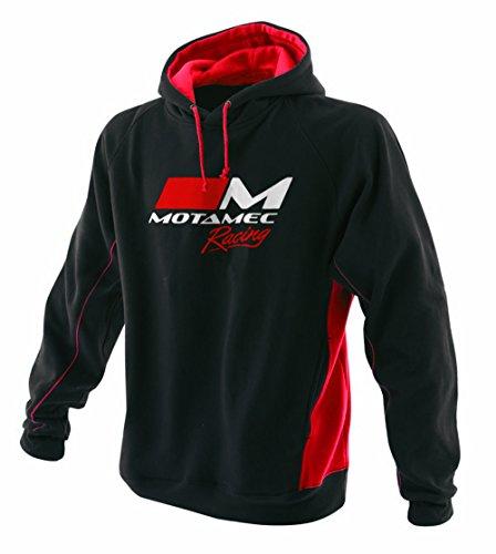 Motamec Racing Hoody - Sudadera con Capucha (Talla L), Color Negro y Rojo