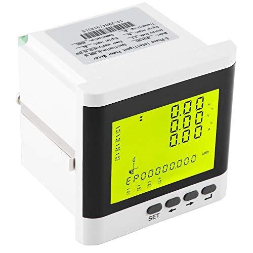 YSDHE Multifunción medidor de Potencia trifásica programable Digital LED vatímetro AC220V-5VA del amperímetro del voltímetro Enchufe de Corriente del analizador