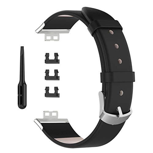 Correa de piel de repuesto para reloj deportivo, correa de piel original, compatible con Huawei Watch Fit Smart Watch, 22 pulgadas