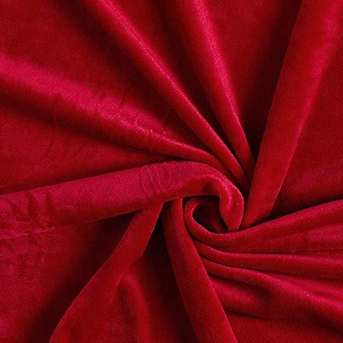 Fabulous Fabrics Samt rot, Uni, 150cm breit – Samt zum Nähen von Jacken, Hosen und Kleidern – Meterware erhältlich ab 0,5 m