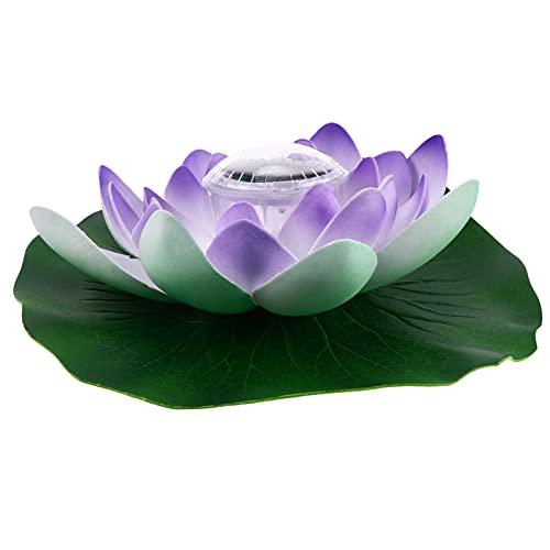 YARNOW Lotus Agua Linterna Lotus Flotantes Linternas LED Impermeable Flotante Flor de Loto Luz de Noche Lámpara Piscina Jardín Peces Tanque Boda Decoración Ornamnet Azul