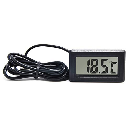 AptechDeals Mini LCD digital thermometer sensor wired for Room temperaure/fridges/Indoor/Outdoor Portable Pocket LCD Electronic Temperature Meter