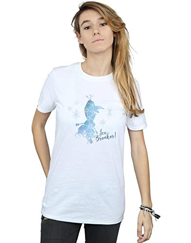 Disney Mujer Frozen 2 Olaf Ice Breaker Camiseta del Novio Fit Blanco XXX-Large