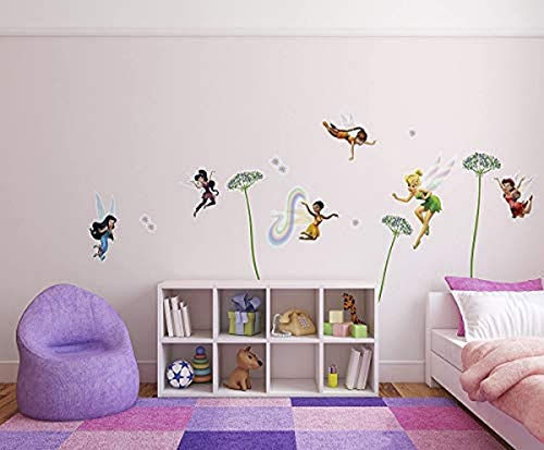 Komar 14049h Deco-Sticker Fairies, Bunt/Rosa