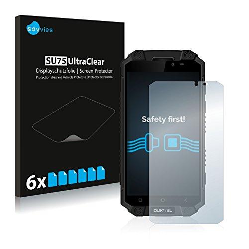 Savvies 6X Schutzfolie kompatibel mit Oukitel K10000 Max Bildschirmschutz-Folie Ultra-transparent