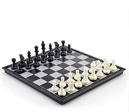YAOHONG Schach-hoher Qualität magnetisches hochwertiges tragbares faltbares oldbares Schachbrett im Freien (Size : Large)