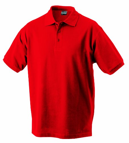 James & Nicholson Jungen Classic Polo Junior Poloshirt, Rot (rot Signal-red), Large (Herstellergröße: L (134/140))