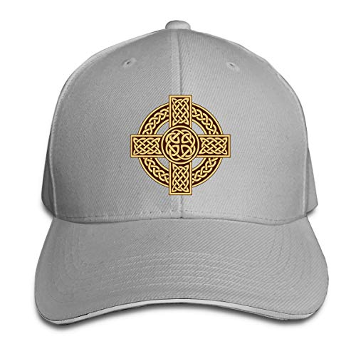 Celtic Cross Irish Scottish Unisex Hats Trucker Hats Dad Baseball Hats Driver Cap Gray
