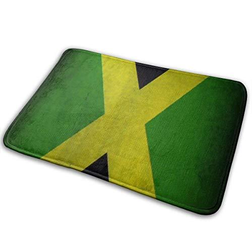 Garlincao Fußmatte Anti-Rutsch-Fußmatte mit jamaikanischer Flagge Begrüßungsmatten Teppich Fußmatte Boden Eingang Fußmatte für drinnen/draußen