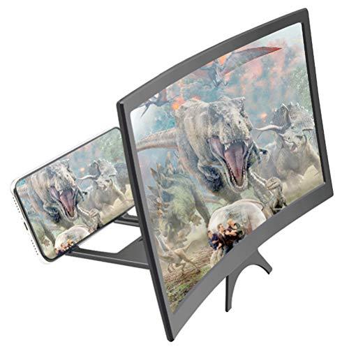 Haplws écran loupe Pratique, Support de télescope à loupe 3D projecteur amplificateur de téléphone Support de téléphone loupe pour Films, vidéos et Jeux