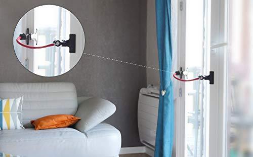 Fensteröffner ohne Bohren mit Sicherheitsvorkehrung Katzen – Courandair