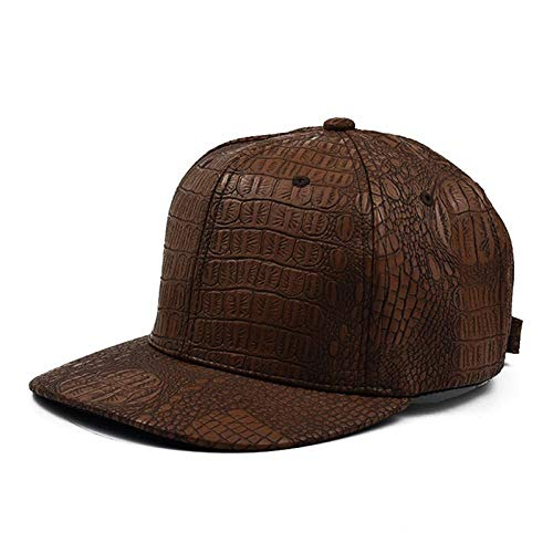 Gorra Moda Streetwear Snapback Cap Hip HopFacecap Marrón Negro Cuero Gorras de béisbol Hombres Mujeres Gorras Ajustables para Hombre