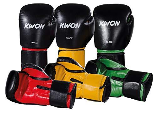 KWON Boxhandschuhe Knocking Gr. 16 oz schwarz/rot