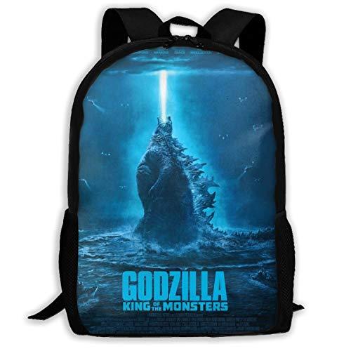Sheridan Reynolds Godzilla King of The Monsters Kid Backpack Boys' Girls' School Bookbag for Children Black