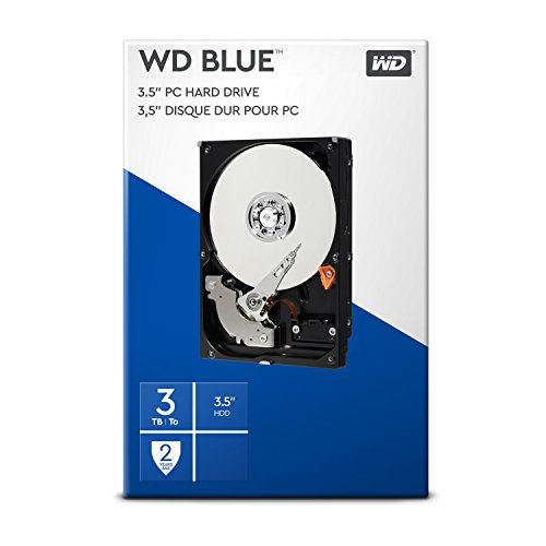 "WD BLUE 3.5"" Disco Rigido Interno - Classe de 5400 RPM, SATA 6 Gb/s, 64 MB Cache, 3 TB"