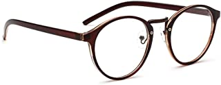 ZEVONDA Round Optical Eyewear Non-prescription Eyeglasses Frame for Women Men