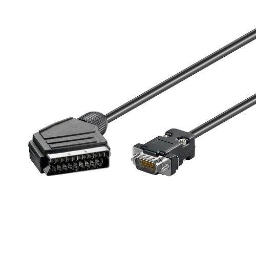 CABLEPELADO Cable Scart Macho - Vga Macho 5 M Negro